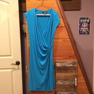 Blue short sleeve dress
